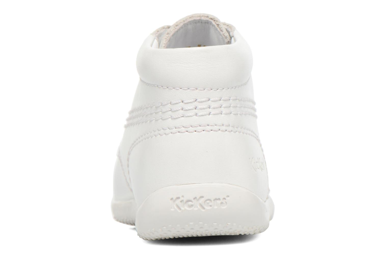Chaussures à lacets Kickers Billy Blanc vue droite