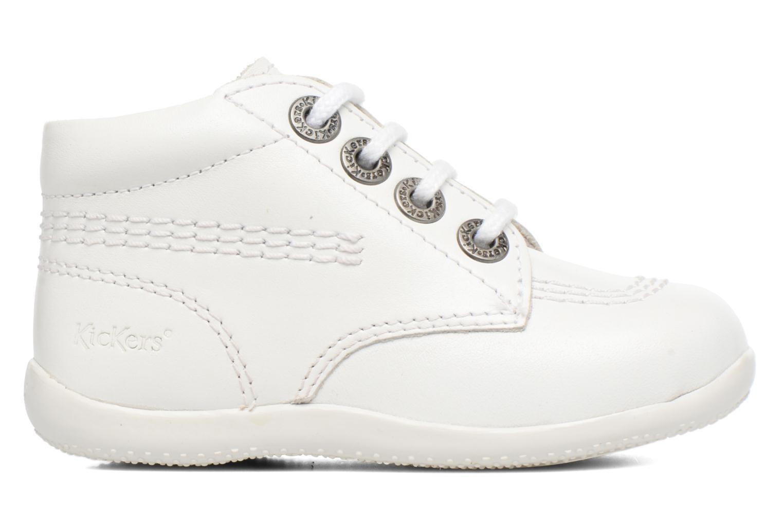 Chaussures à lacets Kickers Billy Blanc vue derrière