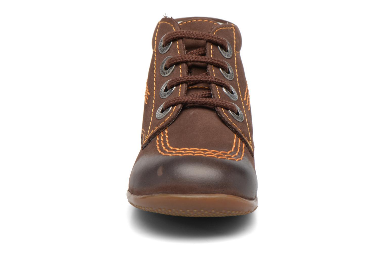 Chaussures à lacets Kickers Billy Marron vue portées chaussures
