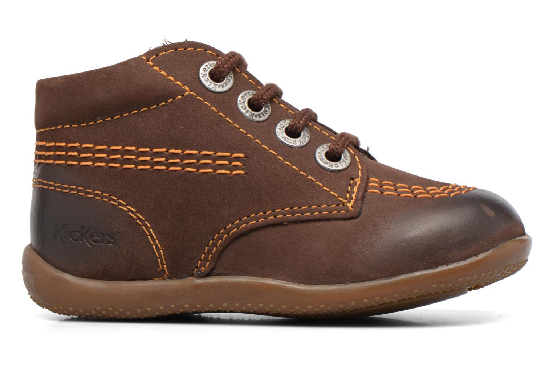 Chaussures à lacets Kickers Billy Marron vue derrière