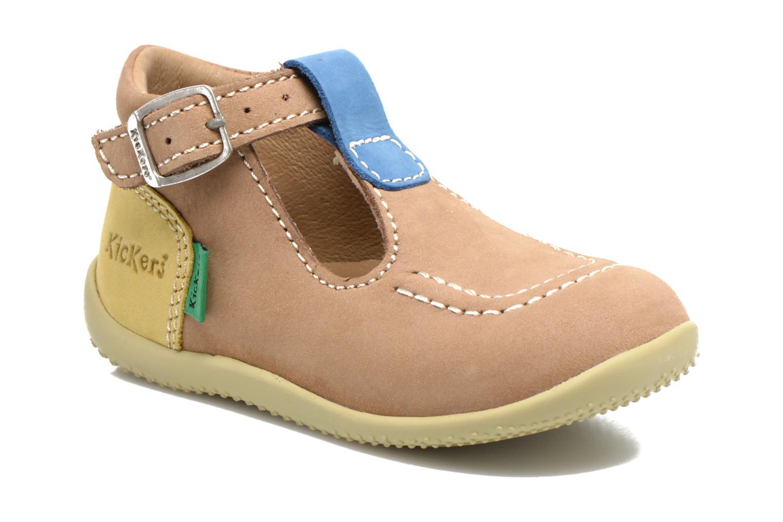 Sommersko Kickers Bonbek Beige detaljeret billede af skoene