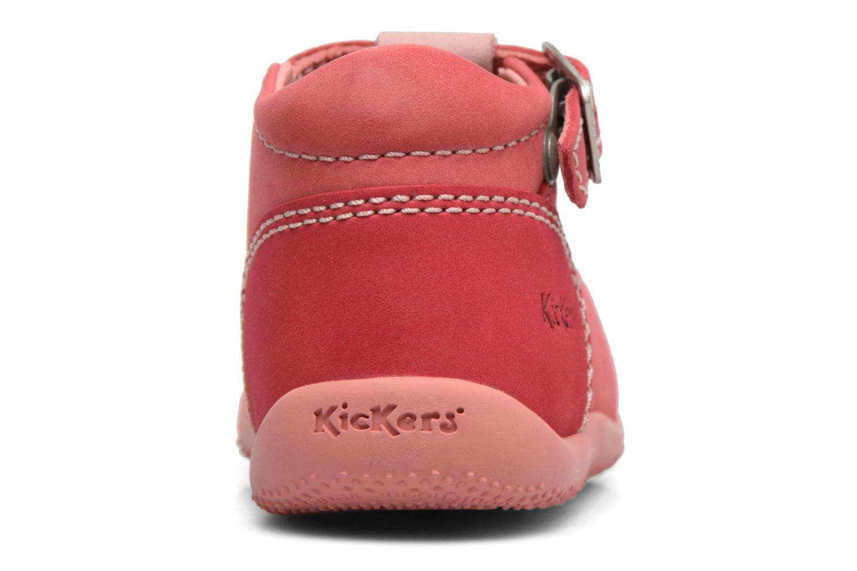 Sommerschuhe Kickers Bonbek rosa ansicht von hinten
