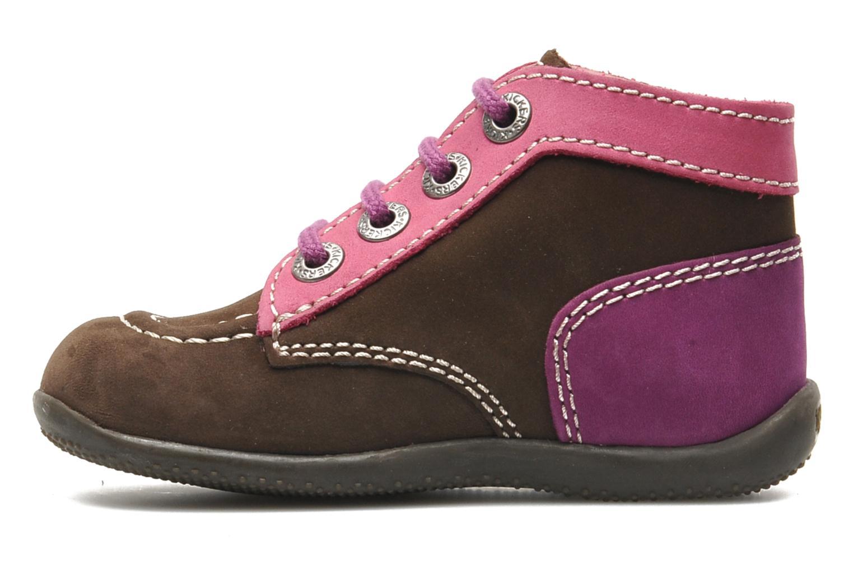 Boots en enkellaarsjes Kickers Bonbon Bruin voorkant