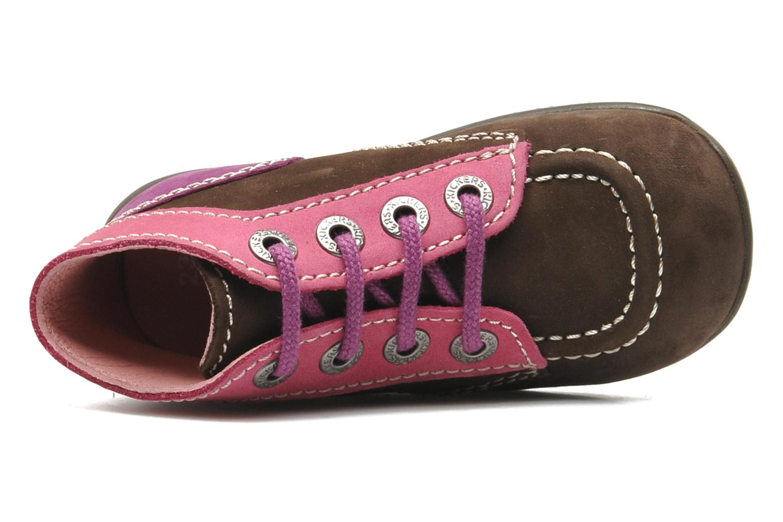 Boots en enkellaarsjes Kickers Bonbon Bruin links