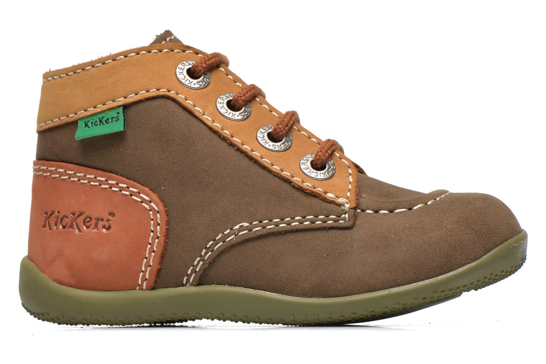 Boots en enkellaarsjes Kickers Bonbon Groen achterkant