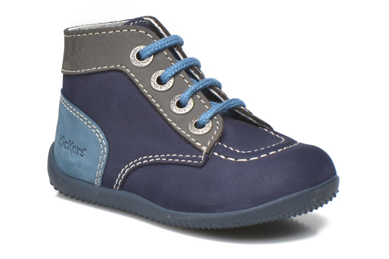 Bottines et boots Kickers Bonbon Bleu vue détail/paire
