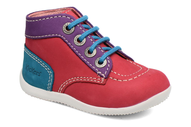Ankelstøvler Kickers Bonbon Pink detaljeret billede af skoene