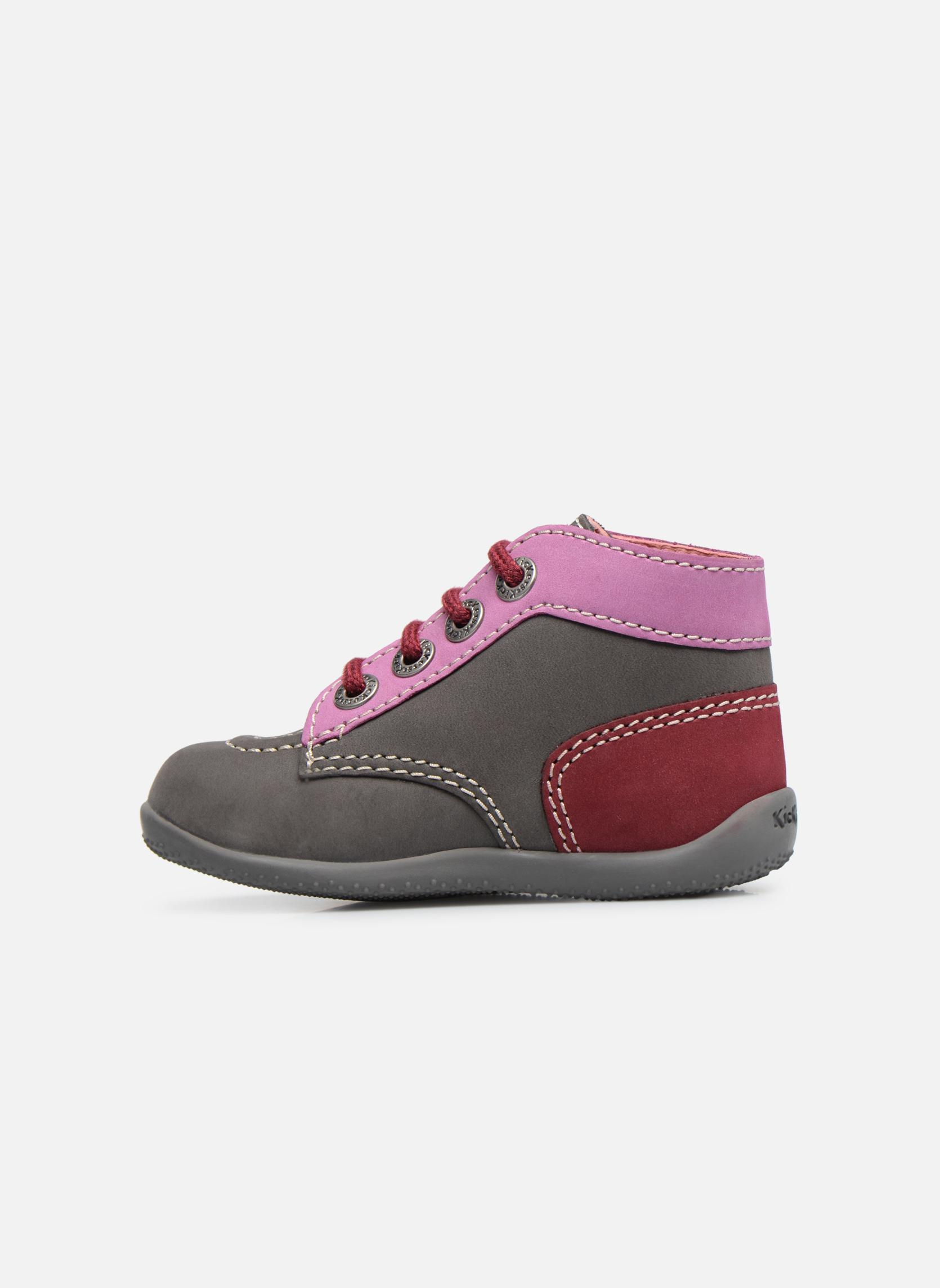 Boots en enkellaarsjes Kickers Bonbon Grijs voorkant
