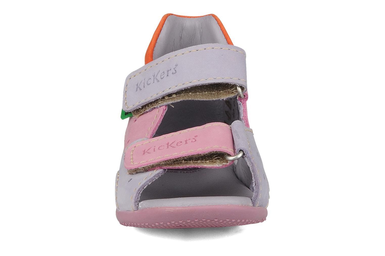 Sandales et nu-pieds Kickers Boan Violet vue portées chaussures
