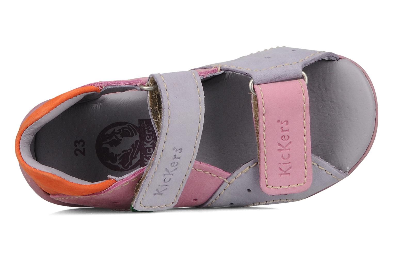 Sandales et nu-pieds Kickers Boan Violet vue gauche