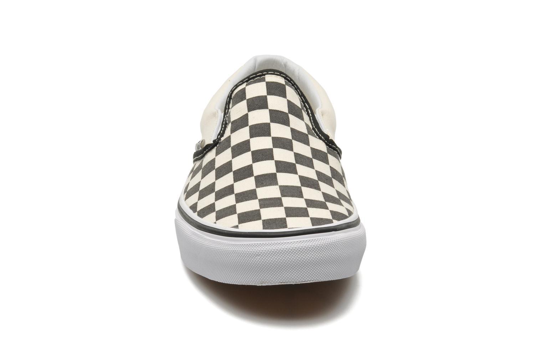Classic Slip-on Black And White Checker/White