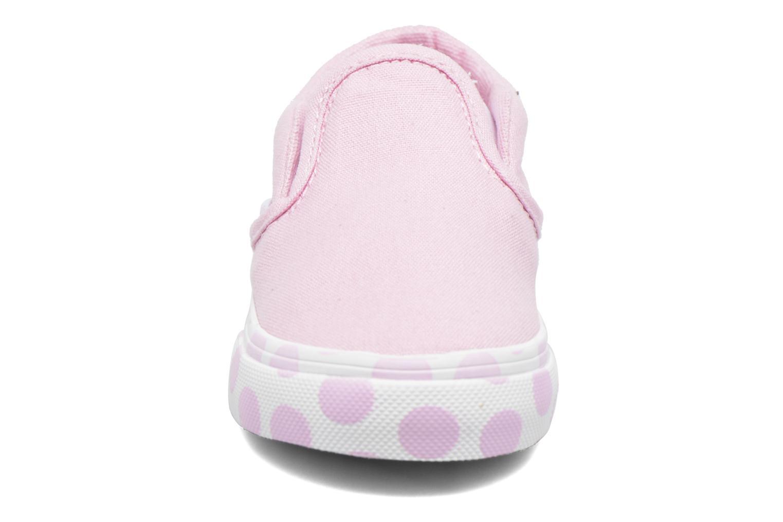 Baskets Vans Classic Slip-on BB Rose vue portées chaussures