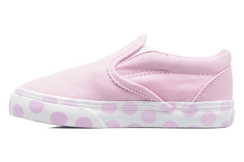 Sneaker Vans Classic Slip-on BB rosa ansicht von vorne