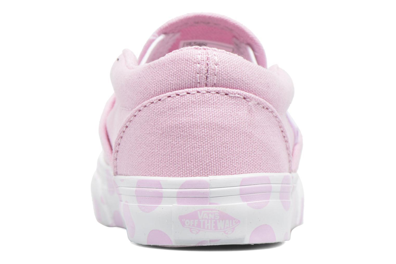 Sneaker Vans Classic Slip-on BB rosa ansicht von rechts