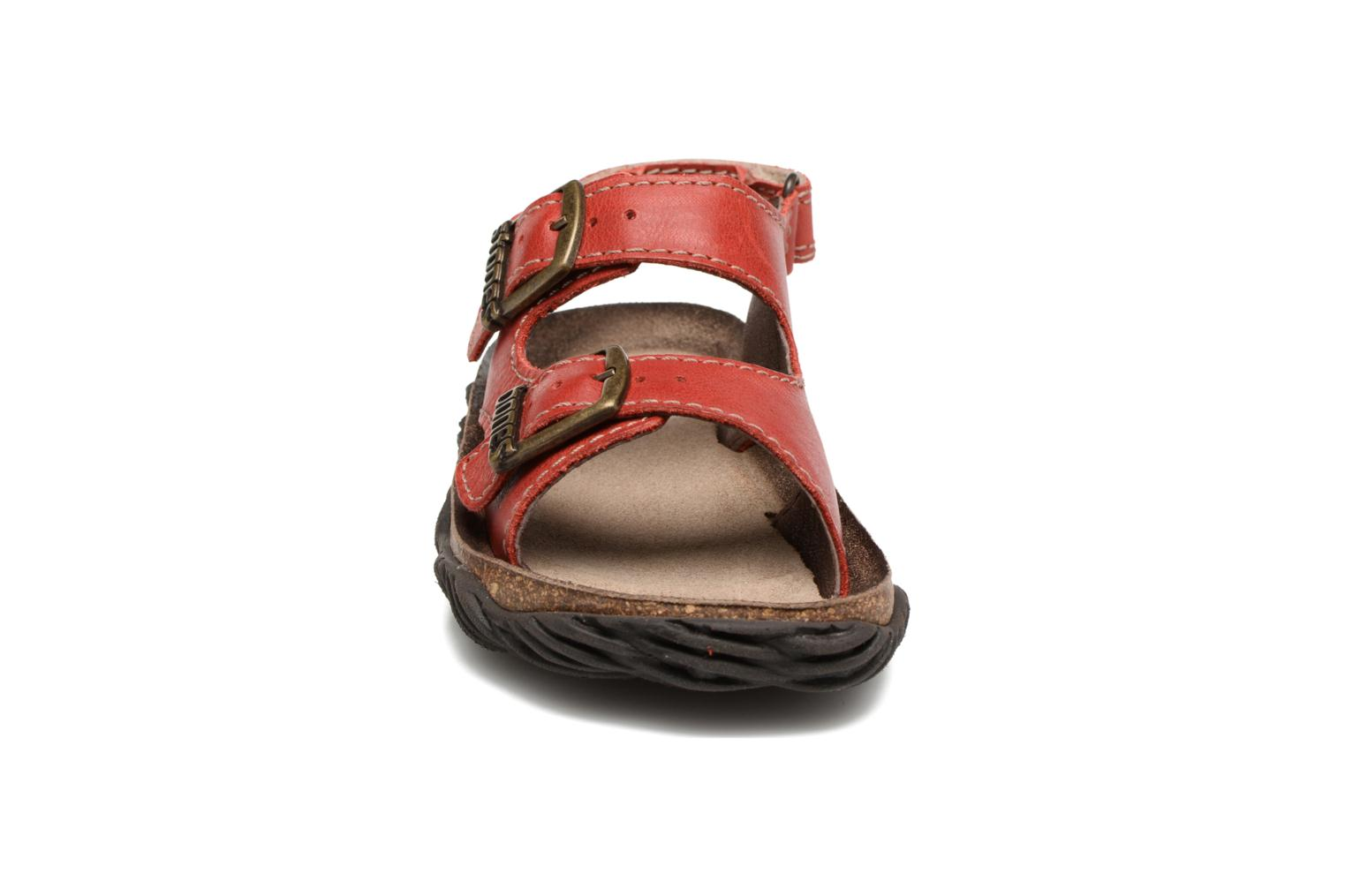Sandals Stones and Bones Wham Red model view