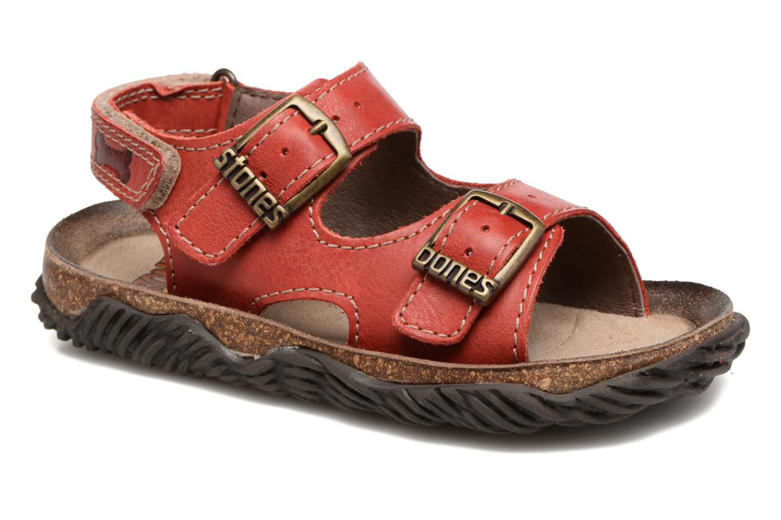 Sandals Stones and Bones Wham Red detailed view/ Pair view
