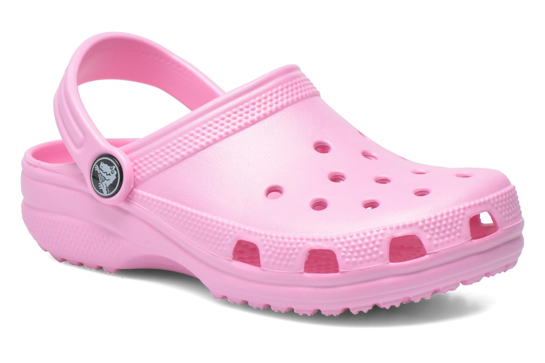 Sandaler Crocs Classic Kids Pink detaljeret billede af skoene
