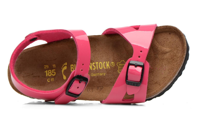 Sandalen Birkenstock Rio rosa ansicht von links