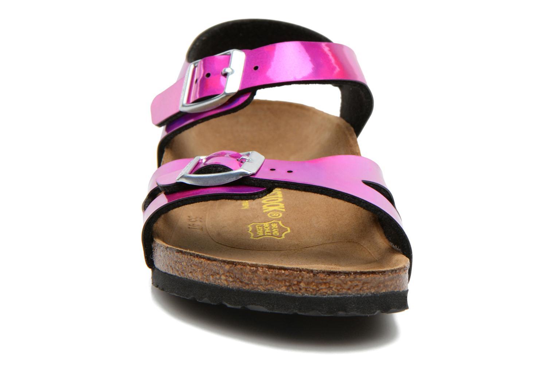 Sandales et nu-pieds Birkenstock Rio Rose vue portées chaussures