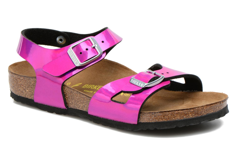 Sandalen Birkenstock Rio rosa detaillierte ansicht/modell