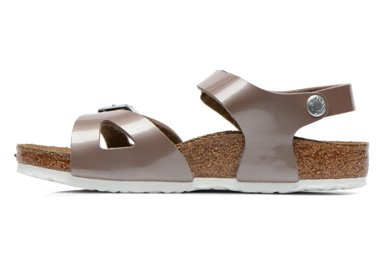 Sandales et nu-pieds Birkenstock Rio Or et bronze vue face
