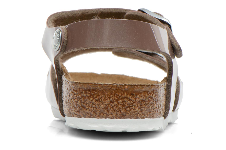 Sandales et nu-pieds Birkenstock Rio Or et bronze vue droite