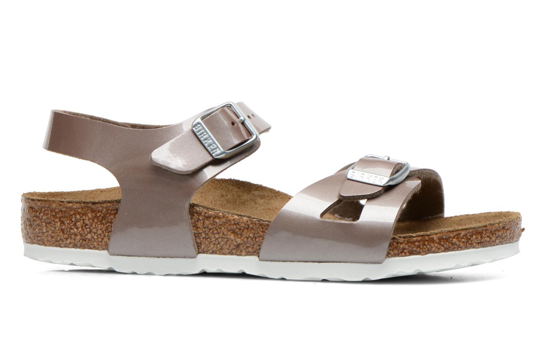 Sandales et nu-pieds Birkenstock Rio Or et bronze vue derrière