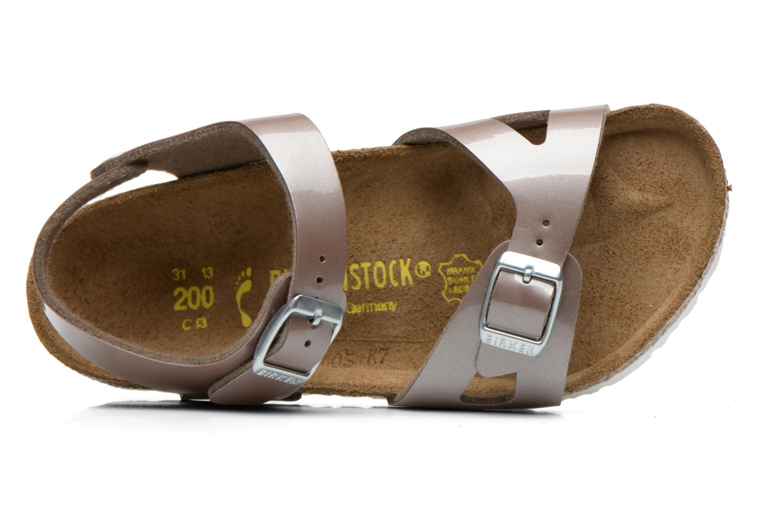 Sandals Birkenstock Rio Bronze and Gold view from the left