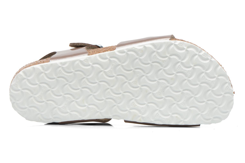 Sandales et nu-pieds Birkenstock Rio Or et bronze vue haut