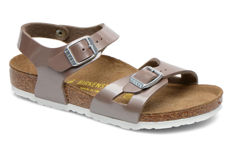 Sandales et nu-pieds Birkenstock Rio Or et bronze vue détail/paire