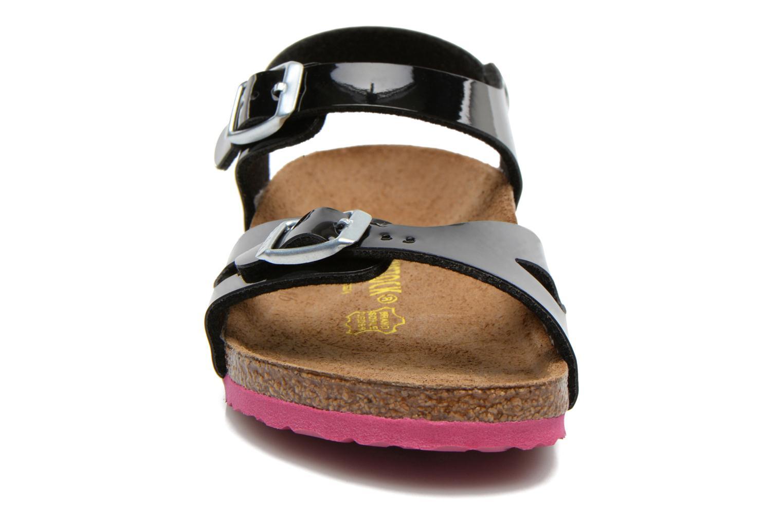 Sandalen Birkenstock Rio schwarz schuhe getragen