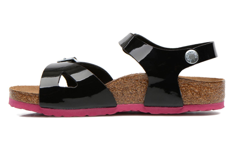 Sandales et nu-pieds Birkenstock Rio Noir vue face