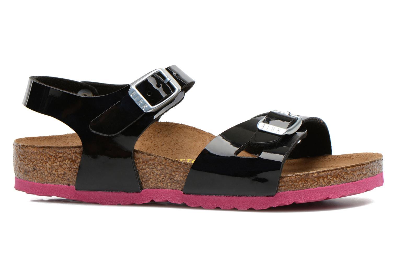 Sandalen Birkenstock Rio schwarz ansicht von hinten