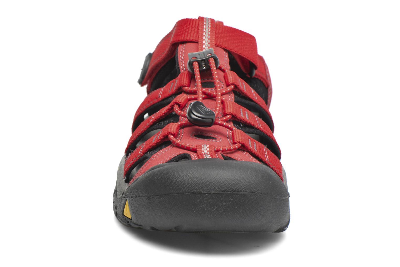 Sandalen Keen Newport H2 rot schuhe getragen