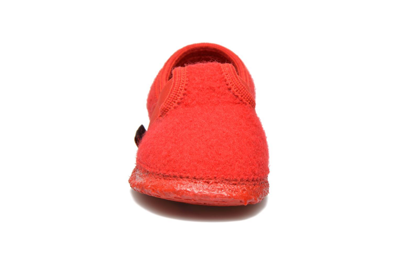 Hausschuhe Giesswein Türnberg rot schuhe getragen