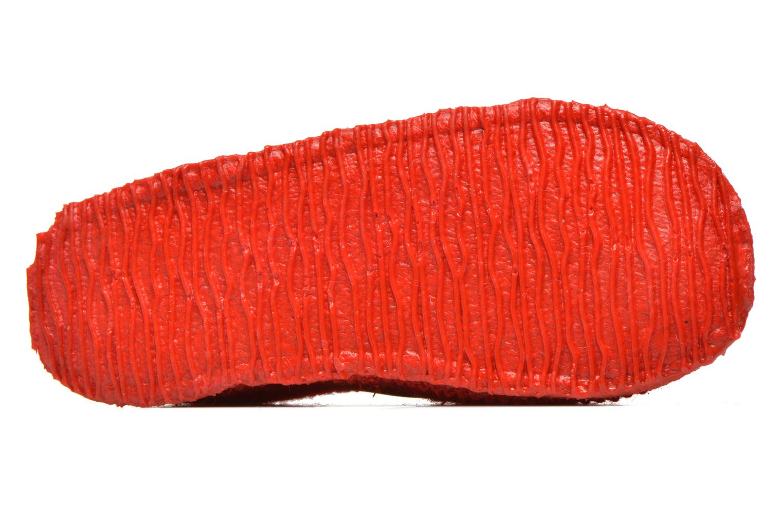 Hausschuhe Giesswein Türnberg rot ansicht von oben