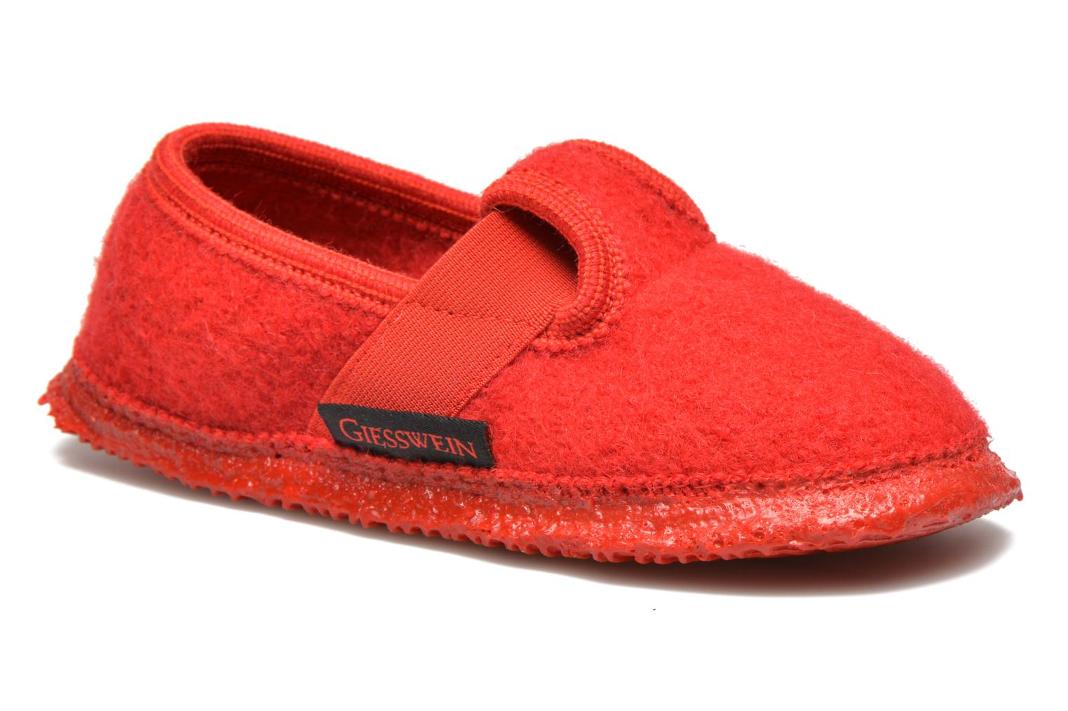 Slippers Giesswein Türnberg Red detailed view/ Pair view