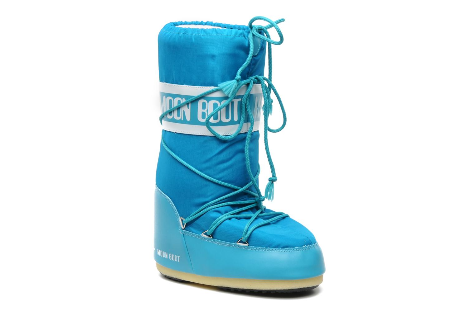 Sport shoes Moon Boot Moon Boot Nylon Blue detailed view/ Pair view
