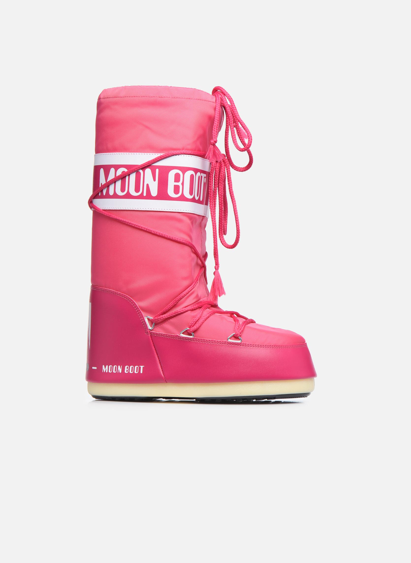 Sportschoenen Moon Boot Moon Boot Nylon Roze achterkant