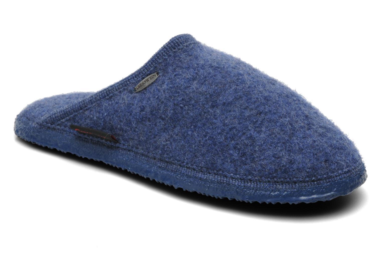 Pantoffels Giesswein Tino Blauw detail