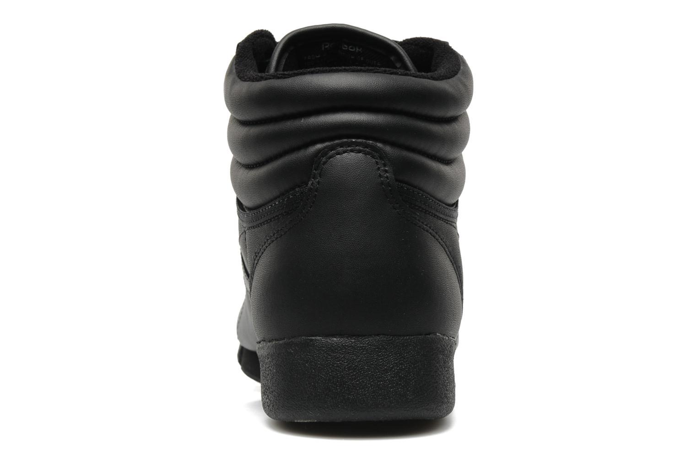 Sneaker Reebok Freestyle Hi schwarz ansicht von rechts