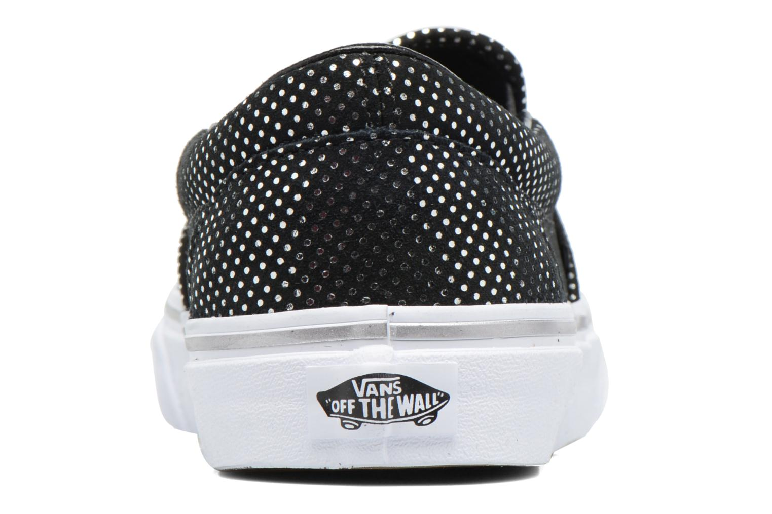 Classic Slip On W (Metallic Dots) Silver/Black