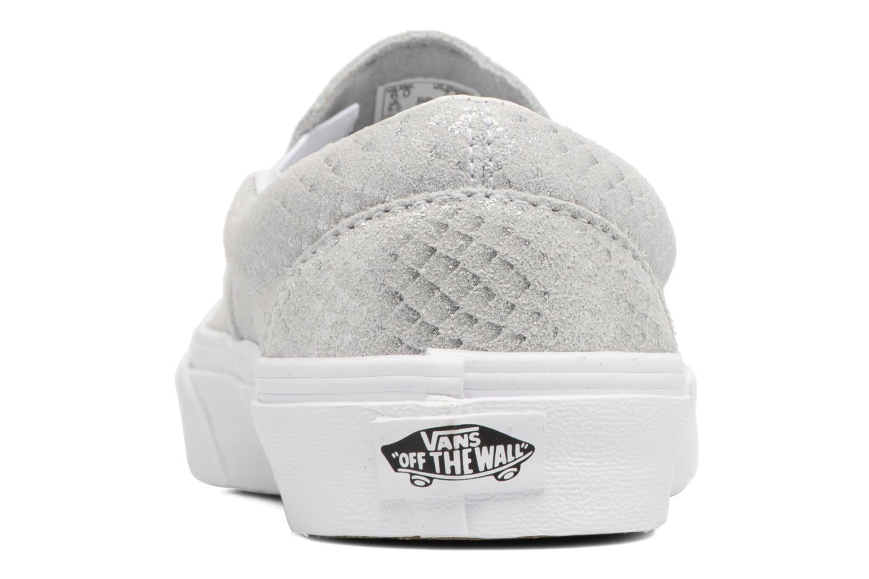 Baskets Vans Classic Slip On W Argent vue droite
