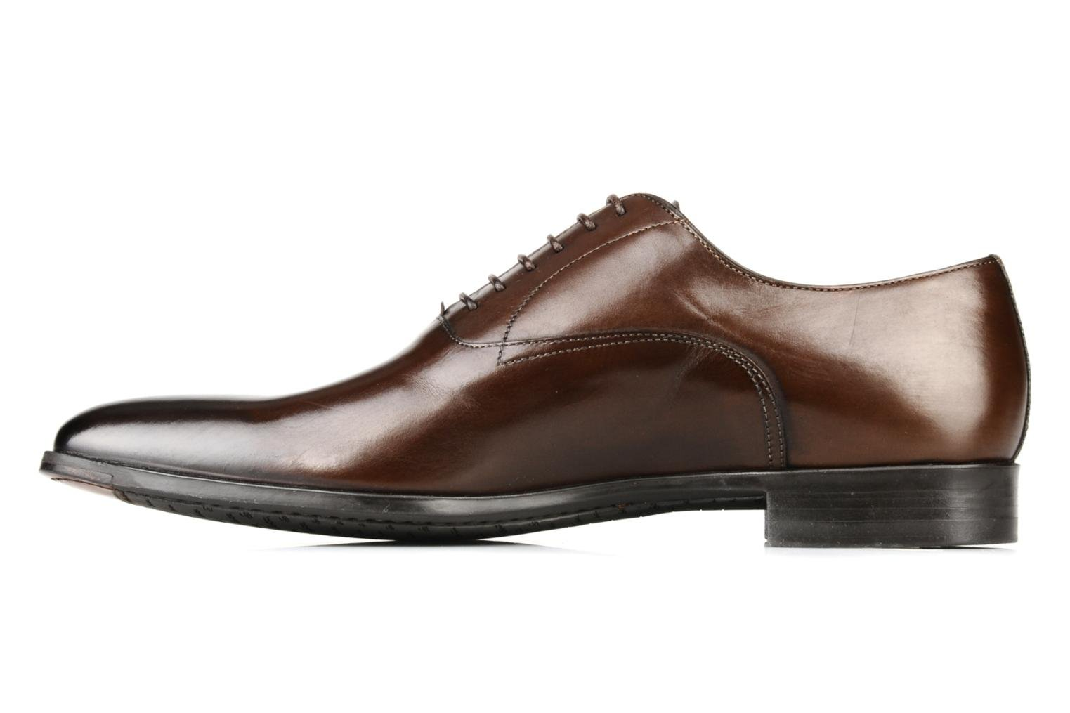 Lace-up shoes Santoni William 7413 Brown front view