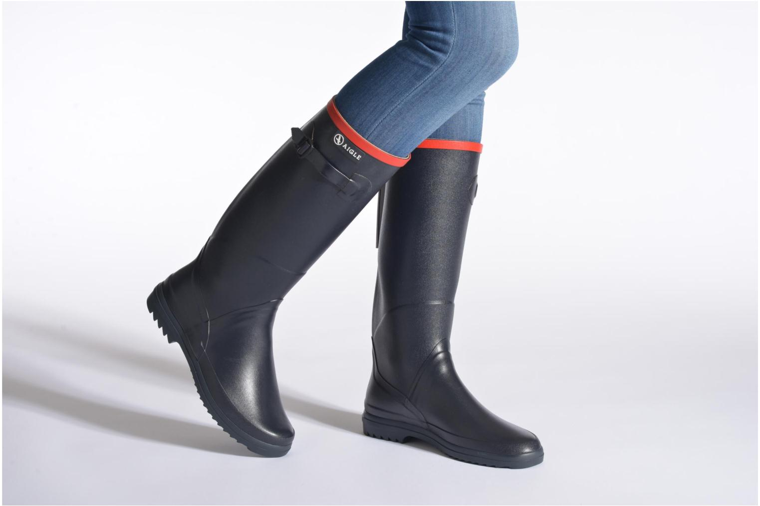 Boots & wellies Aigle Chantebelle Black view from underneath / model view