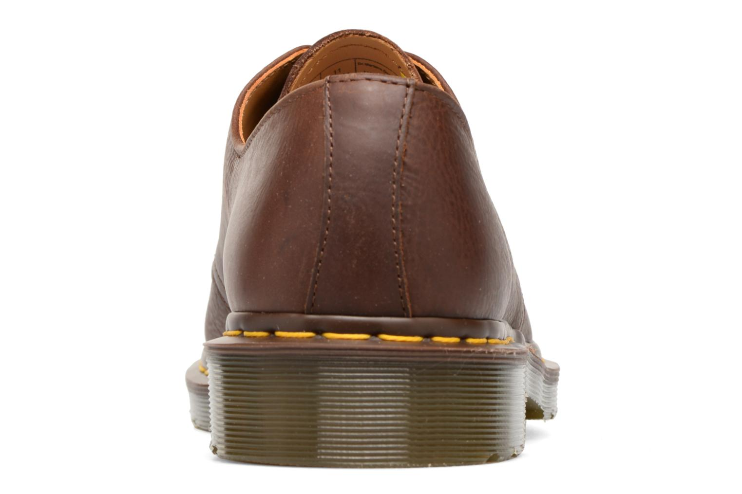Lace-up shoes DR. Martens 1461 Brown view from the right