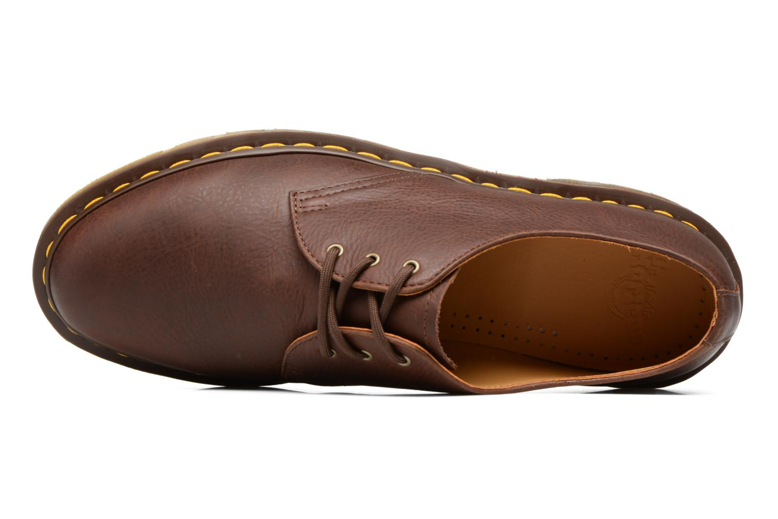 Lace-up shoes DR. Martens 1461 Brown view from the left