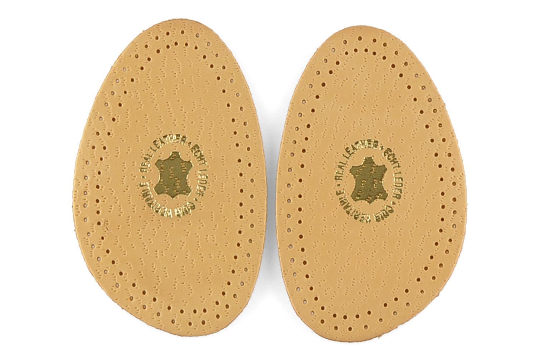 Semelles Famaco Demi-semelle cuir et latex Beige vue détail/paire