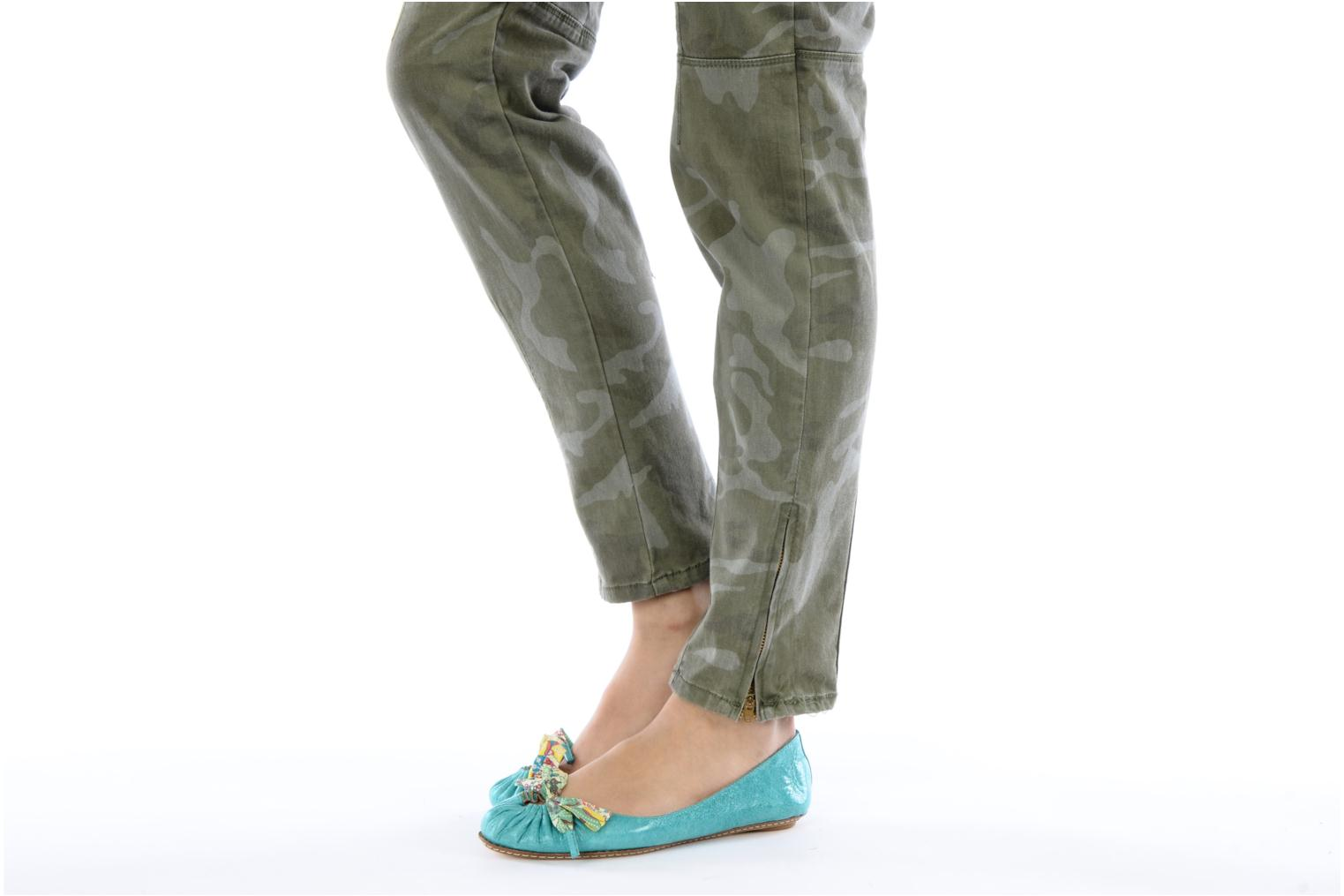 Ballet pumps Maloles Zoe Green view from underneath / model view