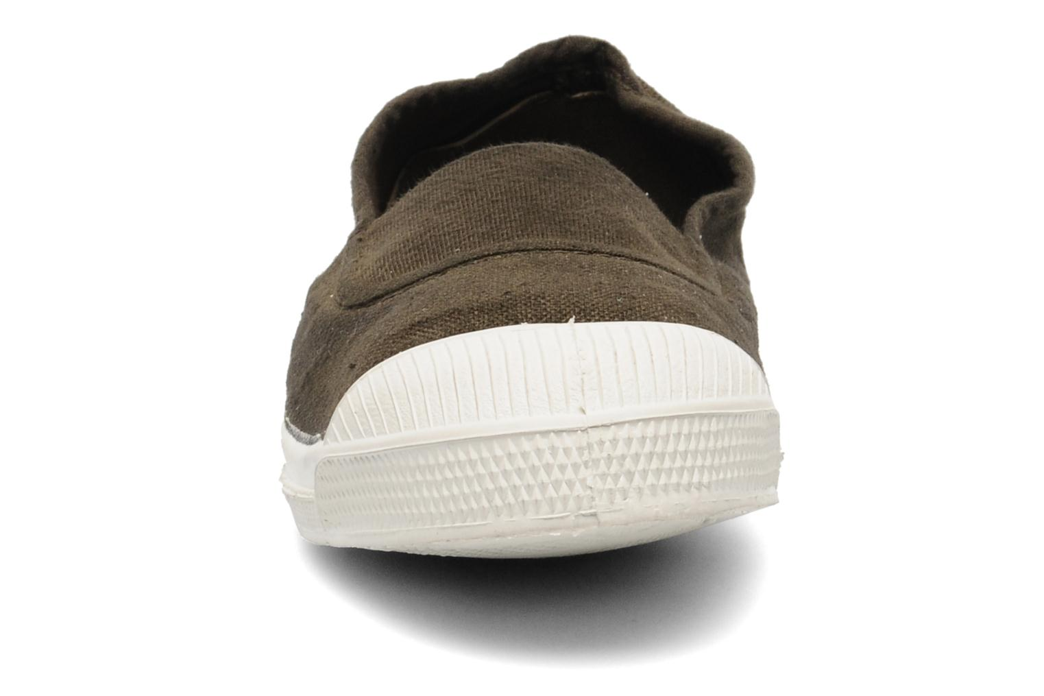 Ballet pumps Bensimon Tennis Elastique E Brown model view